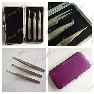 Classic & Volume Magnetic Case Eyelash Tweezer Set - AMAZING PRICE!