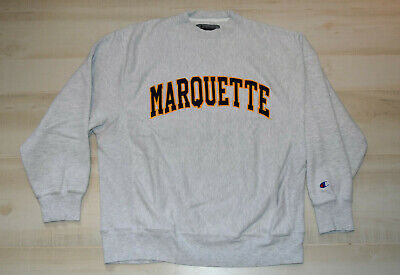 pretty nice cf6eb 8bd25 VINTAGE Champion Marquette Golden Eagles Warriors NCAA SEWN Sweatshirt  Medium