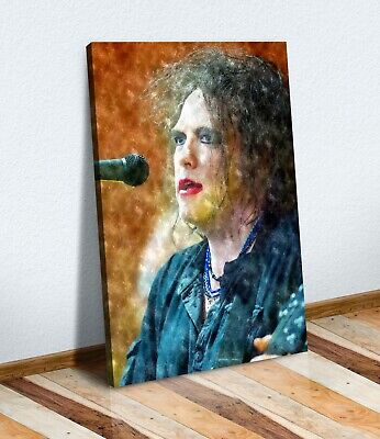 Canvas Wall Art Print Artwork 30Mm Deep Frame  Robert Smith The Cure