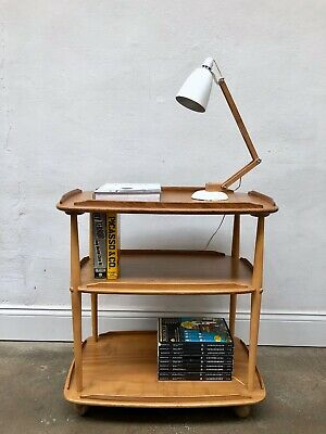 Vintage 60s Ercol Elm Blonde Windsor Trolley / Bookcase. Danish Retro DELIVERY