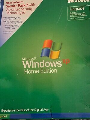 Microsoft Windows XP Home Edition Upgrade With Service Pack 2