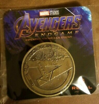 Avengers Endgame (2019) Opening Night Fan Event Promo Coin and Captain Marvel