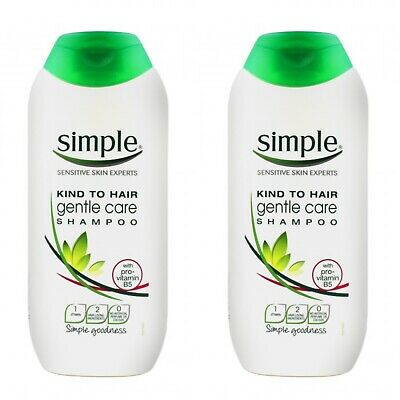 2 X Simple KIND TO HAIR Gentle Care Shampoo 200ML NEW SENSITIVE