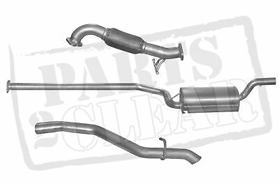 Ford Focus 1.6 Tdci Front Centre Rear Full Exhaust System 90 110 Mk2 Mk3