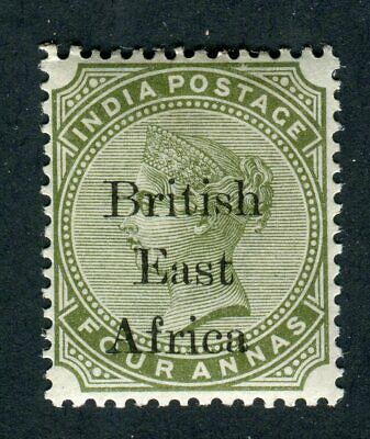 British East Africa/KUT 1895. 4a olive green. MH. SG 55.