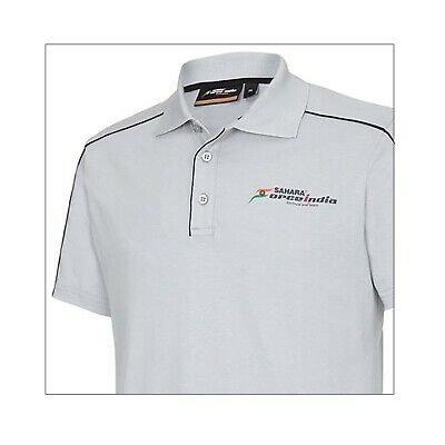 POLO Poloshirt Sahara Force India Formula One 1 Team Fan F1 NEW! Grey