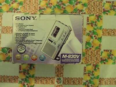 Sony M-830V microcassette recorder mini tape dittafono