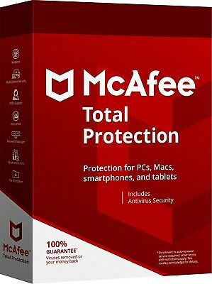 McAfee Total Protection Unlimited 2019 Subscription for One Year(New Or Renewal)