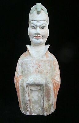 CHINESE Tang Dynasty Male ATTENDANT Tomb Burial Terracotta Figurine Sculpture