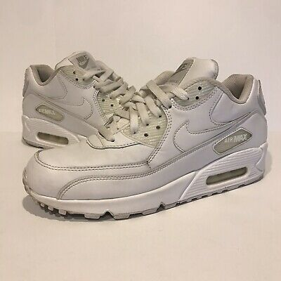 huge selection of ac0da d6be4 Nike Air Max 90 Leather White Men s Size 8 Shoes 302519-113 Sneakers