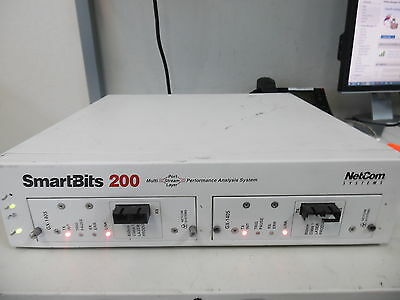 Netcom Systems Smartbits 200 Smb-0200 Analysis System W/2 Gx-1405 Modules