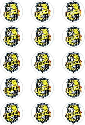 """circles. Harry Potter; Gryffindor Crest; T1 Theme Cupcake Topper; 15 x 2/"""" 50mm"""