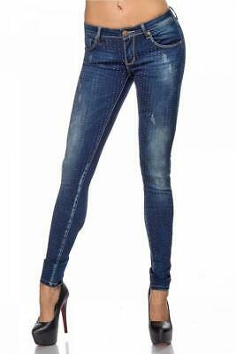 VARIOUS Jeans mit Strass