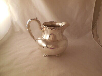 Vintage Wilcox International Silver Water Pitcher New Beverly Manor Silver Plate