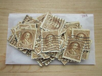 # 709 x 100 Used US Stamps  George Washington Bicentennial Issue