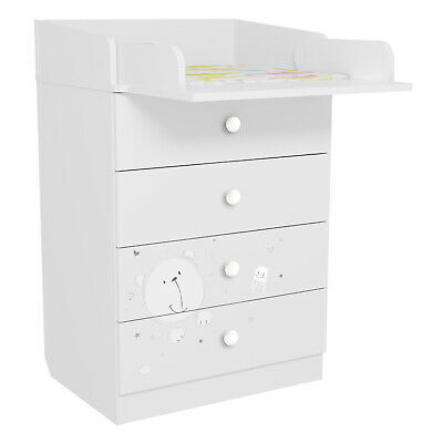 CHEST of DRAWERS DRESSER w/ changing table Polini Kids 1560 Teddy FREE Delivery