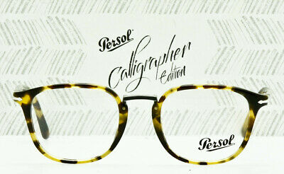 4a9ed39bc83b PERSOL RX Eyeglass Frame PO3187V1056 Calligrapher Edition Brown Beige Tort  49mm