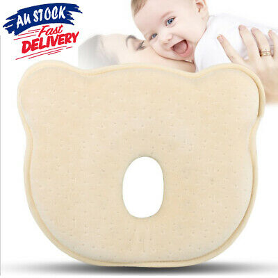 Baby Pillow Memory Anti Roll Infant Neck Foam Prevent Newborn Support Flat Head