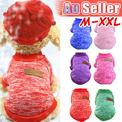 Knitwear Cute Dog Sweater Cat Jumper Winter Puppy Knitted Coat Pet Clothes Warm