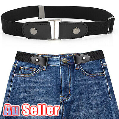 Buckle-free Elastic No Bulge Invisible Womens Belt for Jeans Comfortable Hassle