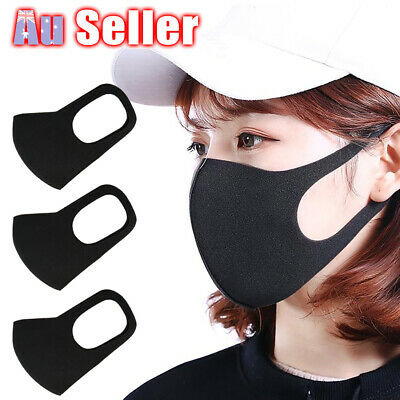 1/3Pcs Anti Dust Surgical Respirator Mask Mouth Face Mask Washable Cycling