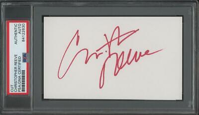 "CHRISTOPHER REEVE signed 3x5 cut (""Superman"" - AUTOGRAPH) 
