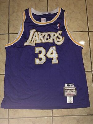 d444d2c55 Vintage NBA Champion Jersey Shaquille O Neal Shaq LOS ANGELES Lakers Size 48