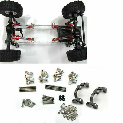 Upgrade Metal Pull Rod Mount Seat Kit for 1:16 WPL C14 C24 Military Truck RC Car