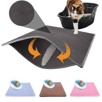 Double-Layer Cat Litter Mat Trapper Foldable Pad Pet Rug EVA Foam Rubber Pads
