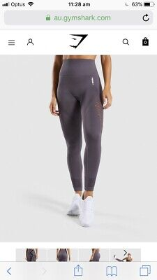 99b7bb7818864 GYMSHARK ENERGY SEAMLESS purple leggings XS high waisted full length ...