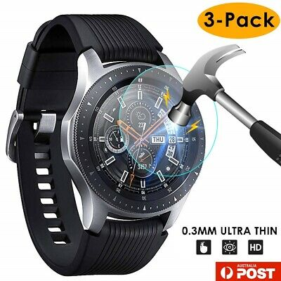 3xPACK Genuine Samsung Galaxy Watch 42/46mm 9H Tempered Glass Screen Protector