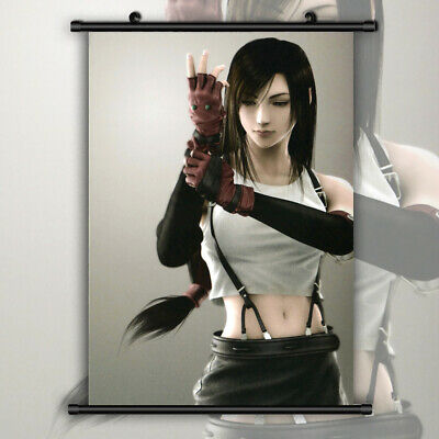 Final Fantasy VII Tifa HD Print Anime Wall Poster Scroll Room Decor