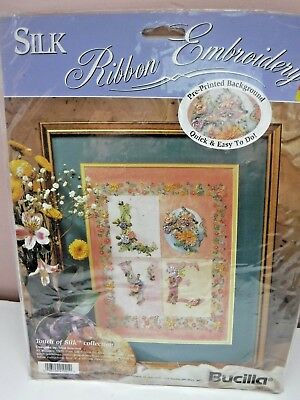 Bucilla Silk Ribbon Embroidery NEW Touch Of Silk Collect. #41021 LOVE Sealed