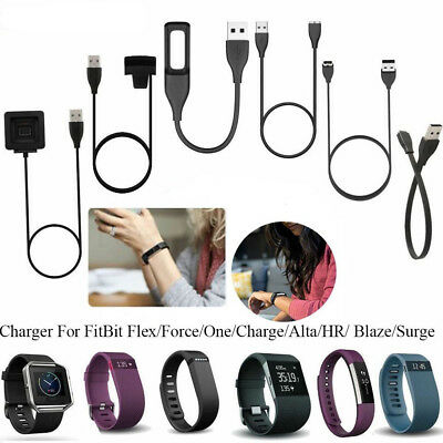 USB Charger Cable Charging Lead For FitBit Flex/One/Charge2/Alta/HR/Blaze/Surge