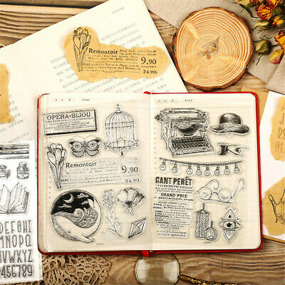 Decorative DIY Crafts Silicone Rubber Transparent Stamp Retro Scrapbooking