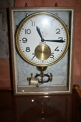 HORLOGE MERE REGULATEUR BRILLIE  INDUSTRIAL CLOCK FRENCH ART DECO Loft