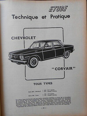 ► Revue Technique Automobile N°178 - Chevrolet Corvair - 1961 - Tres Bon Etat