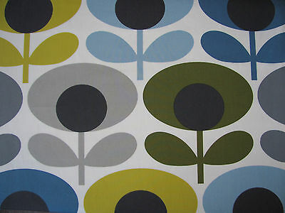 Orla Kiely oval flower marine 31cm wide / 120cm long fabric 100% cotton new