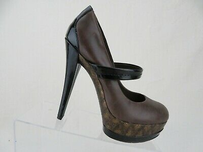 5f76635b2450 JESSICA SIMPSON Cheetah Mary Jane Brown/Black Sz 6.5 B Women Platform Pump  Heels
