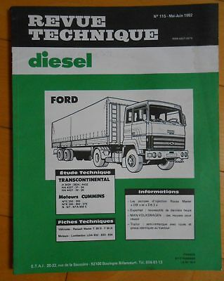 ► Revue Technique Camion Ford Transcontinental - 1982