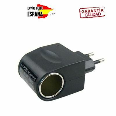 CARGADOR ADAPTADOR MECHERO DE COCHE A RED - 220V a 12V - ENCHUFE PARA COCHE
