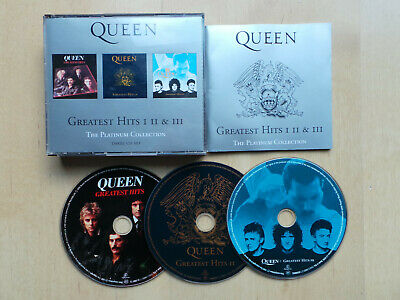 Queen Greatest Hits I Ii & Iii 1-3 The Platinum Collection 3-Disc Cd Box Set Vgc