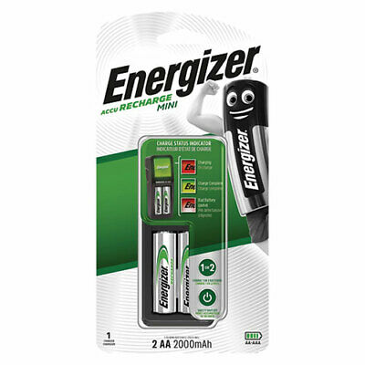 Energizer Recharge MINI charger Accu for NiMH rechargeable AA & AAA batteries EU