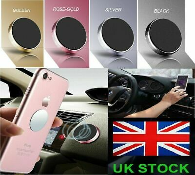 New In Car Magnetic Phone Holder Fits Dashboard Universal Mount Various Colours