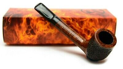 Briar Pipe Handmade Wooden Classic Straight Canadian Rusticated
