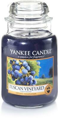 YANKEE CANDLE TUSCAN VINEYARD  Large JAR CANDLE LIMITED EDITION