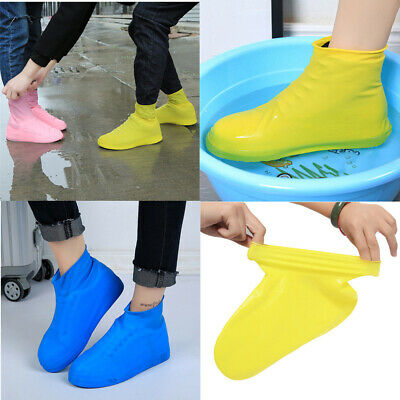 Portable overshoes Reusable Waterproof Anti-slip Rubber Shoe Covers Protector