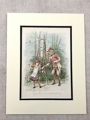 Antique Print Charles Dickens The Old Curiosity Shop Little Nell Grandfather