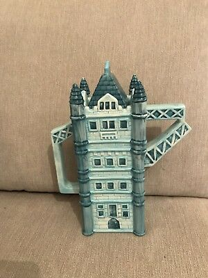 London Pottery Little Gems Tower Bridge Teapot 10 Inch Novelty England