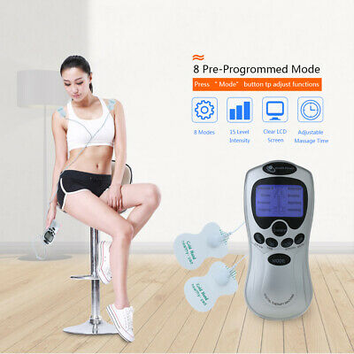Electrical Stimulation Massage Tens Unit Machine Muscle Therapy Pain Relief R1U2